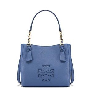 9ea946cb6bf83 Tory Burch Bags - Tory Burch Harper Small Satchel 34239 Wallis Blue